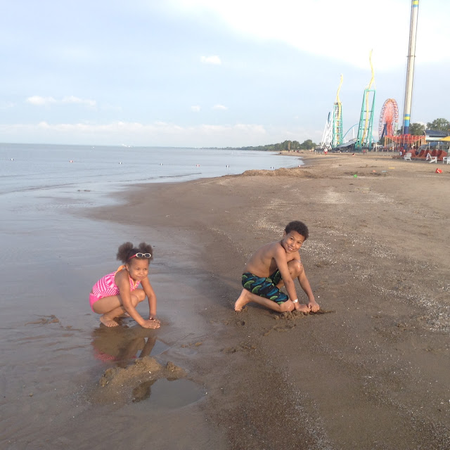The beaches of Cedar Point