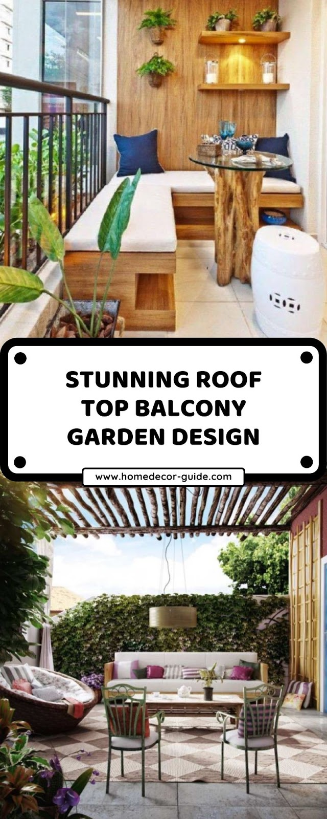 STUNNING ROOF TOP BALCONY GARDEN DESIGN