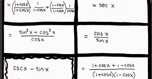 Math Teacher Mambo: Trig Identity Match Up Activity