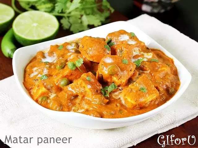 matar-paneer-recipe-how to make Matar Paneer Recipe at GIforU