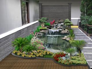 Kolam koi buatan tukang taman surabaya / tukangtamansurabaya.info