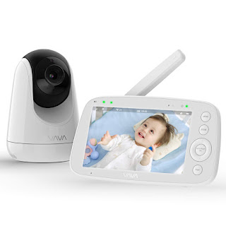 Baby Monitor, VAVA 720P 5 HD Display Video Baby Monitor with Camera and Audio