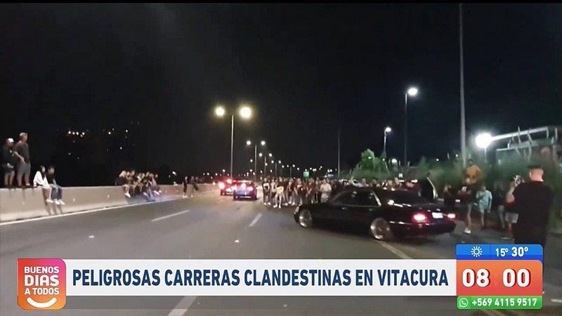 Carabineros despachó 38 partes empadronados por carreras clandestinas en Costanera Norte