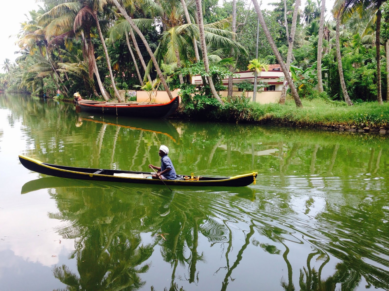 Canoe on the Alleppey canal
