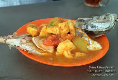 Kuliner Batam - Ikan Asam Pedas Tiam Huat