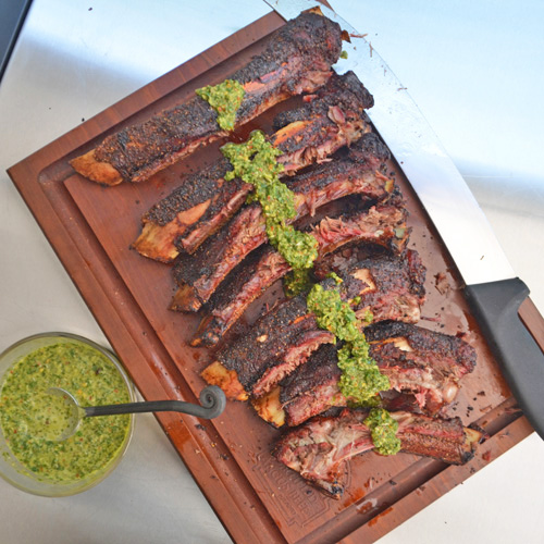 BBQ Beef Back Ribs with Chimichurri