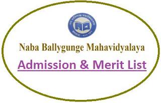 Naba Ballygunge College Merit List