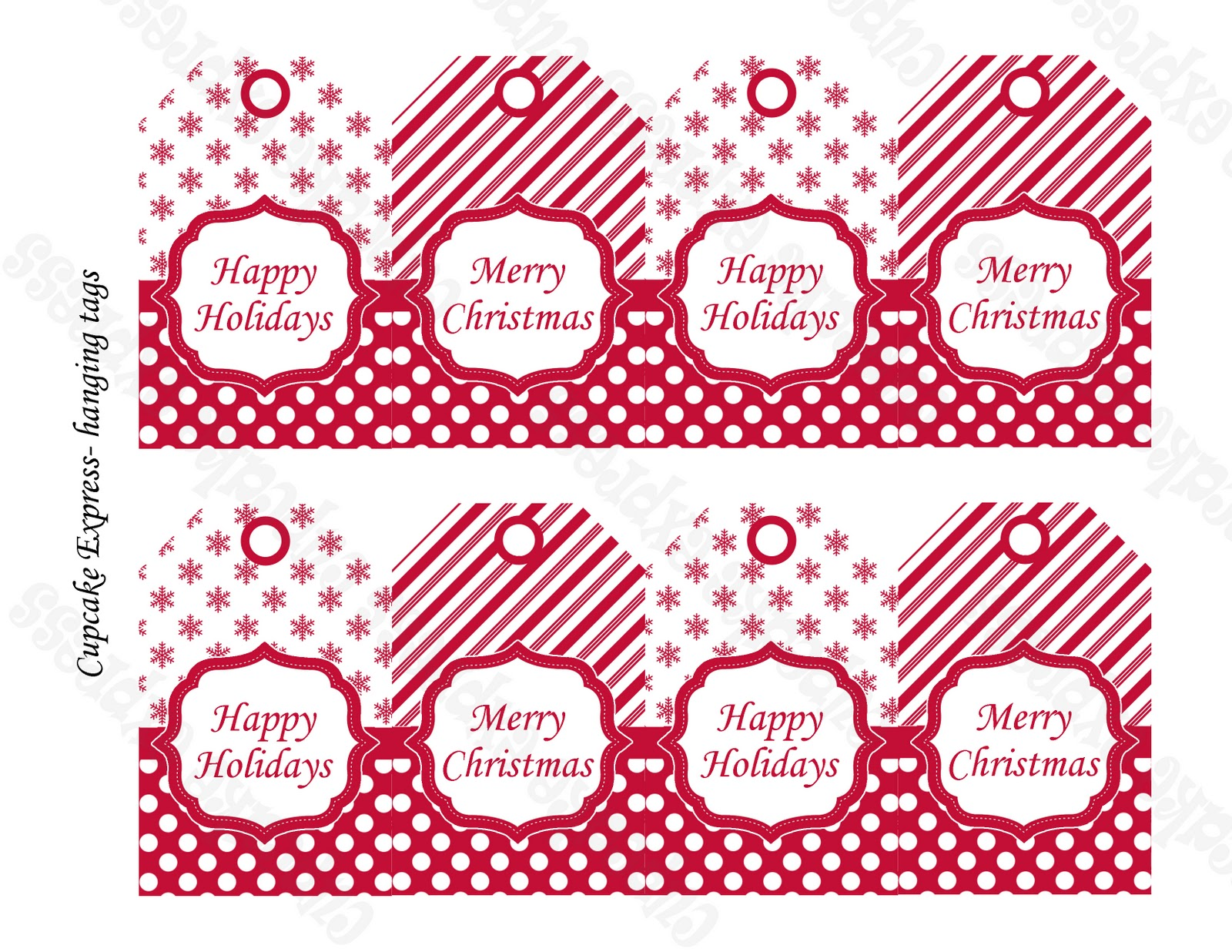 Christmas Tags: Rudolph Ramblings: Peppermint Party Printables