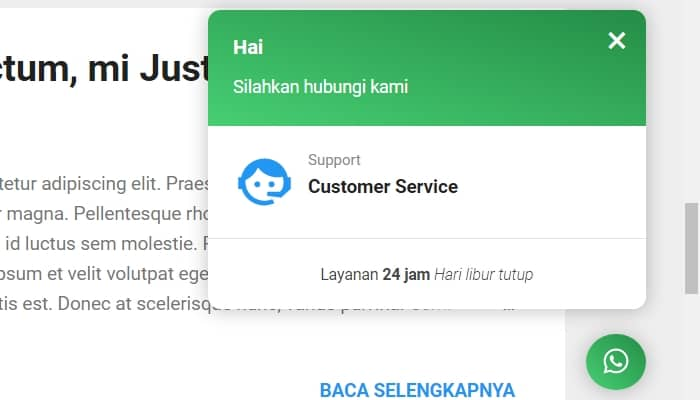 Cara Memasang Chat Whatsapp di Website