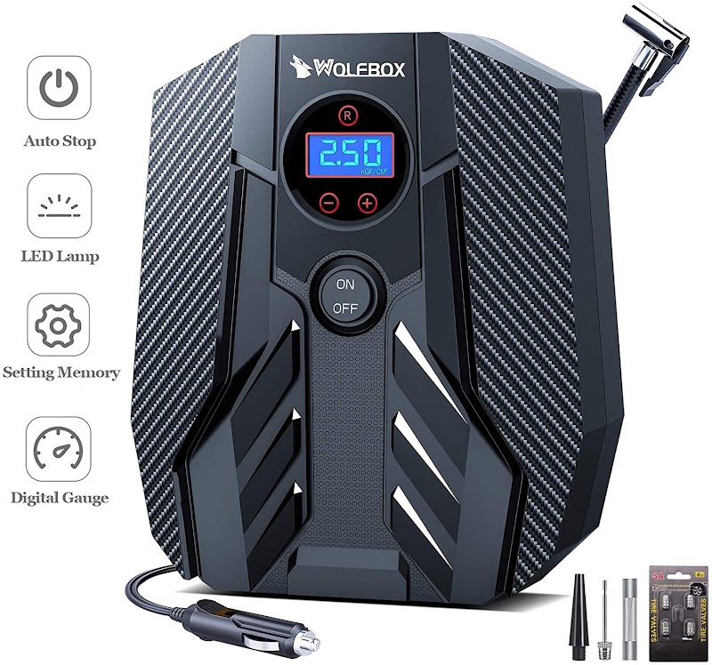 40%OFF Portable Air Compressor Pump,Digital Tire Inflator, [Car/Bicycle/Motorcycle/ Basketball]