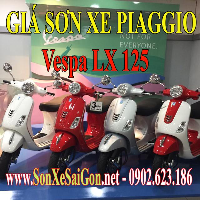 Giá sơn xe máy Piaggio Vespa LX 125