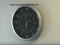 كاميرات مراقبة مخفية علي شكل ساعة حائط