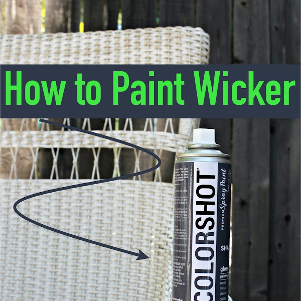 How to Paint Wicker and a Wicker Chair Makeover