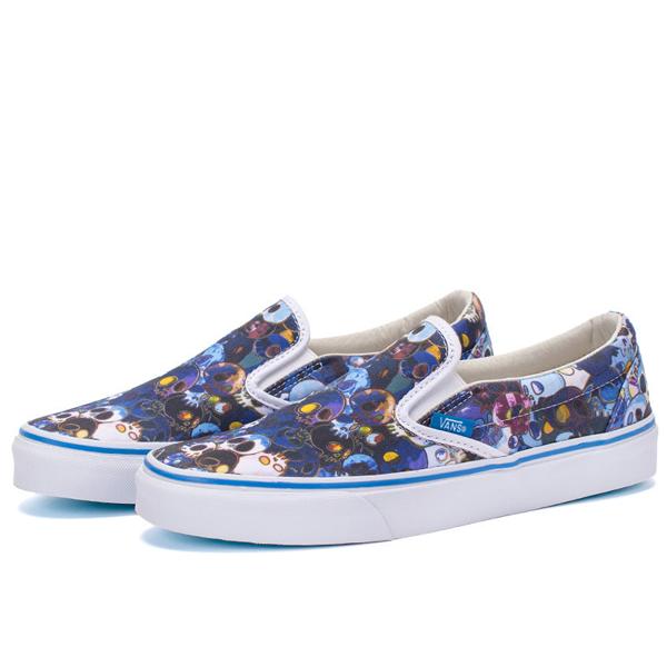 cee69de5c1 Vans Vault Takashi Murakami Classic Slip-On LX. (Flower) Blue. VN000ZSIGQ9