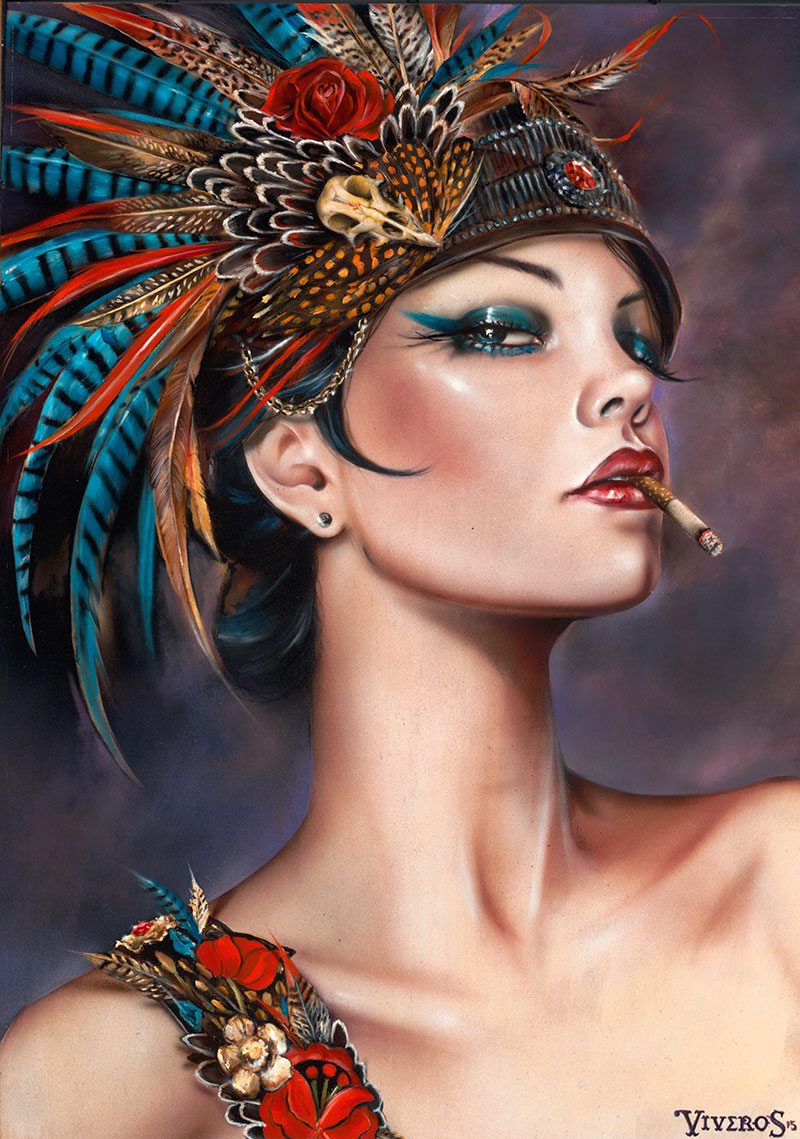 13-Viva-Vaudville-Brian-M-Viveros-Paintings-of-Femininity-in-the-Eye-of-the-Artist-www-designstack-co