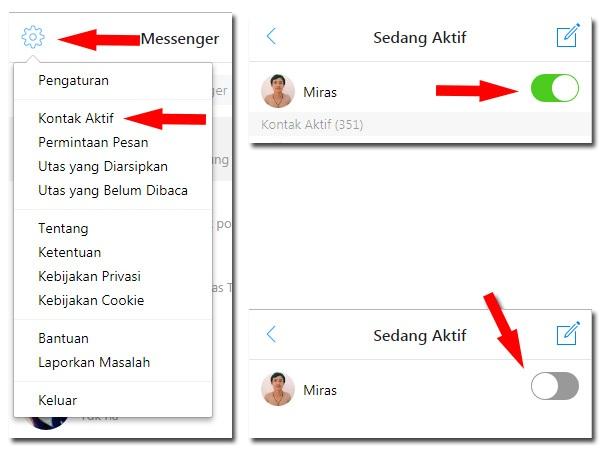 2 Cara Menonaktifkan / Menyembunyikan status aktif di facebook messenger atau bahasa inggrisnya disable online status facebook messenger