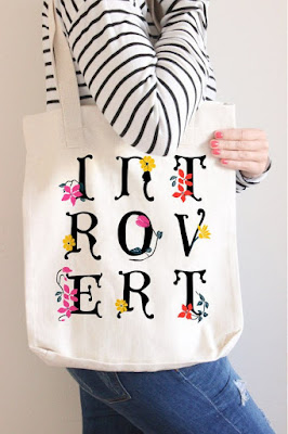 Introvert Tote on Etsy