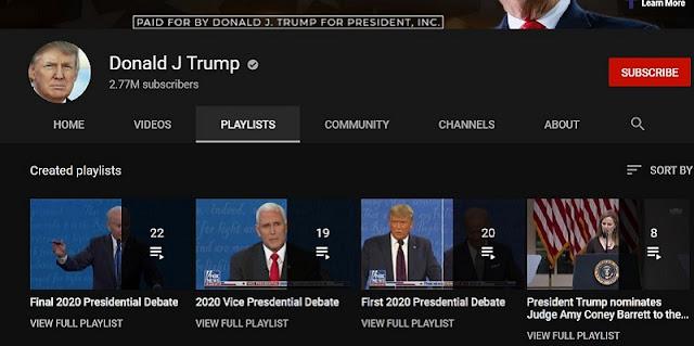 Ikuti Langkah Facebook Dan Twitter, YouTube Tangguhkan Kanal Milik Trump