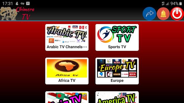 تحميل تطبيق chimera.live.tv.apk لمشاهدة قنوات العالم المشفرة والمفتوحة