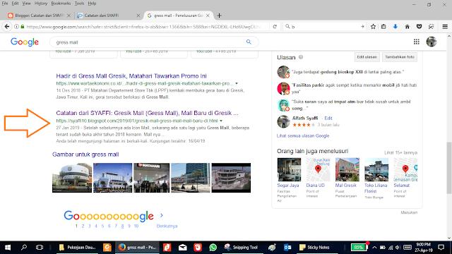 Sukses-Syaffi10-Blogspot-masuk-di-halaman-pertama-google-search