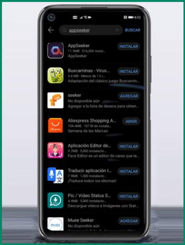 تثبيت التطبيقات Huawei AppSeeken
