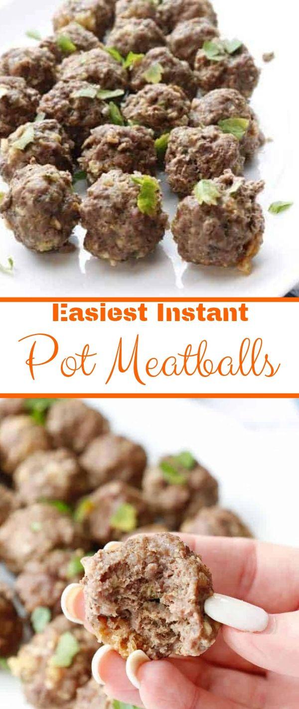 Easiest Instant Pot Meatballs #Easiest #Instant #Pot #Meatballs Dinner Recipes Healthy, Dinner Recipes Easy, Dinner Recipes For Family, Dinner Recipes Vegan,
