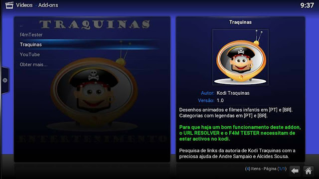 Add-On KODI - TRAQUINAS