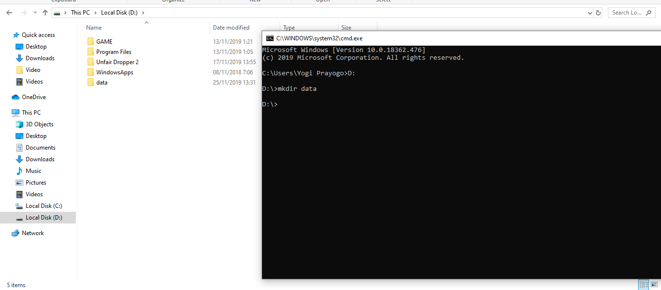 Cara Membuat Folder Baru Menggunakan CMD