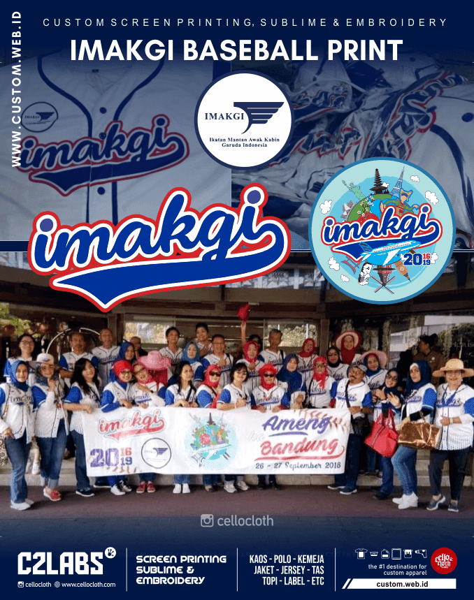 Imakgi - Ikatan Mantan Awak Kabin Garuda Indonesia Baseball Full Printing