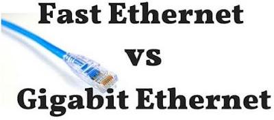 perbedaan Fast Ethernet dan Gigabit Ethernet