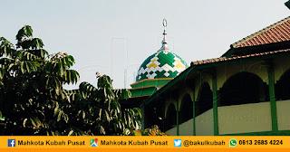 Pemasangan Kubah Masjid Enamel, Ngalian - Semarang