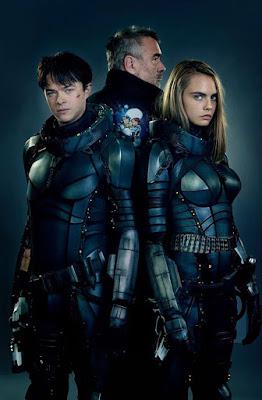 Los protagonistas y director de 'Valerian y la Ciudad de los Mil Planetas