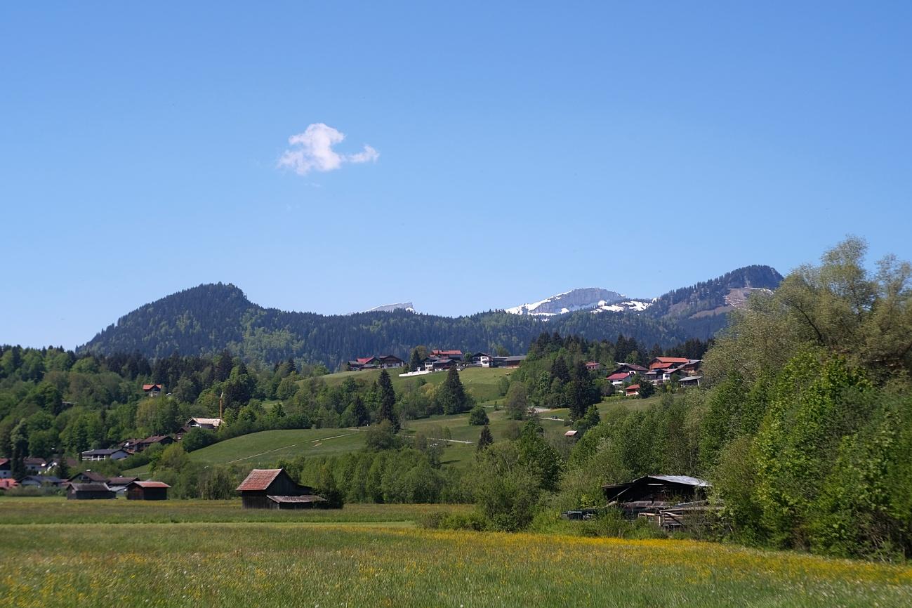 Blick auf den Ifen von Oberstdorf aus