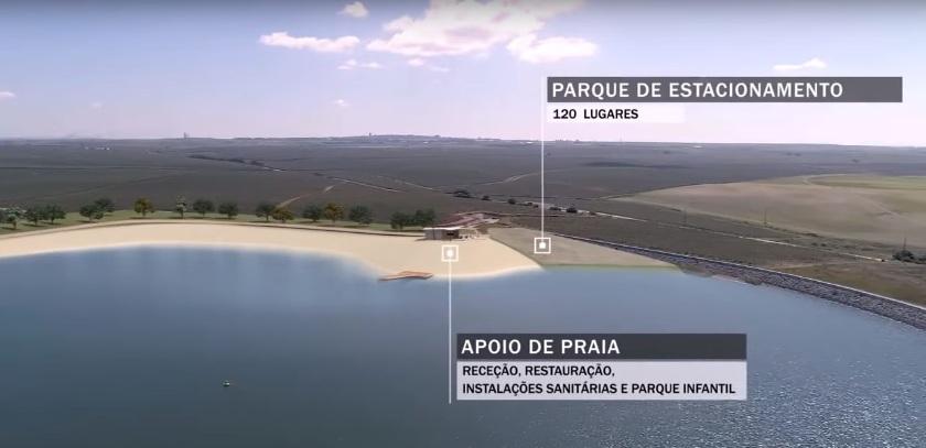Parque de estacionamento e Apoio á Praia