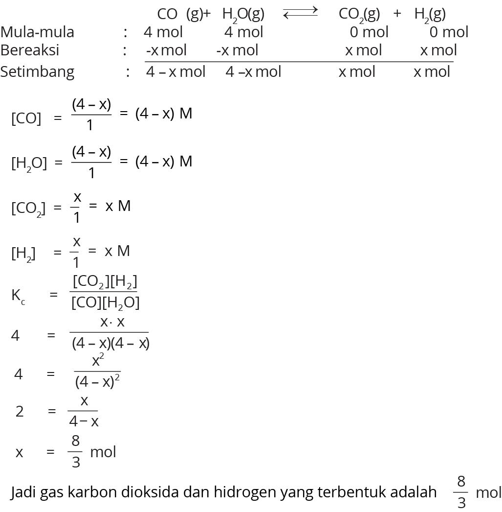 contoh soal essay tentang kesetimbangan kimia