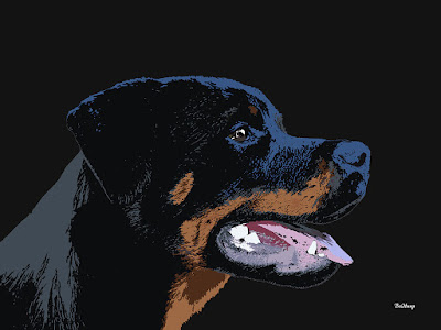 Black Rottweiler Rottweilers Dog Dogs Animal Print