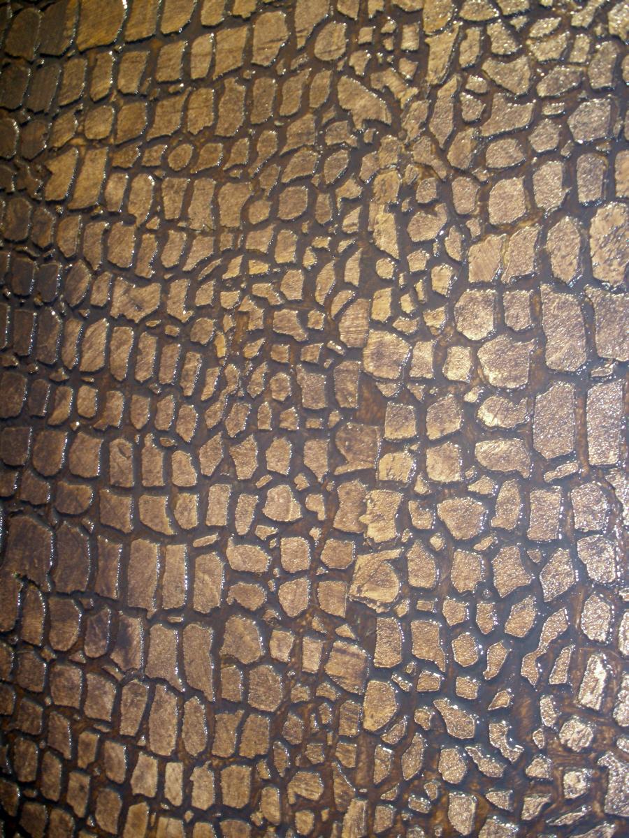 Bb Faux Finish Gold Wall Amp Crocodile Effect