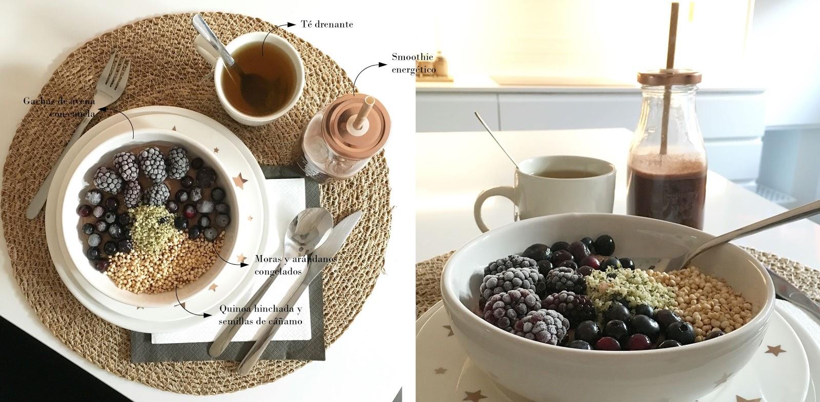Desayuno pre-entreno con gachas de avena