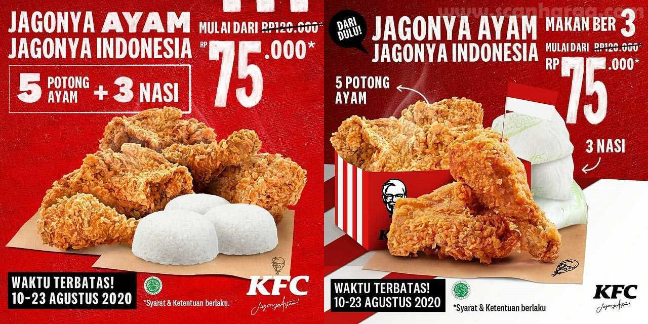 Promo KFC Merdeka Terbaru 10 - 23 Agustus 2020