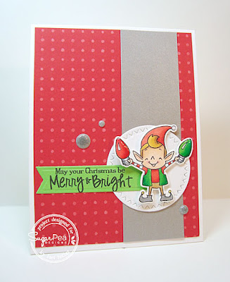 May Your Christmas Be Merry and Bright card-designed by Lori Tecler/Inking Aloud-stamps and dies from SugarPea Designs