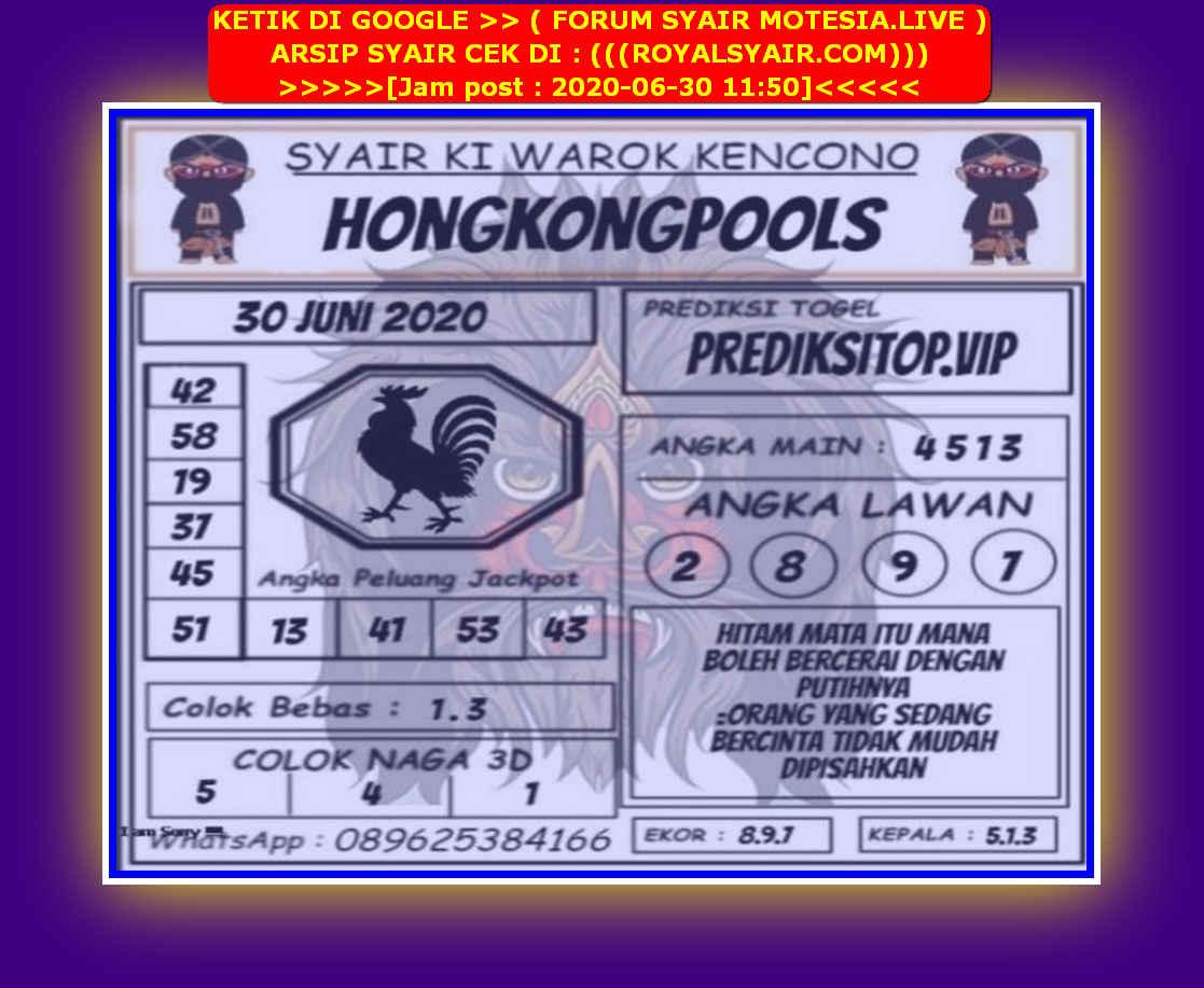 Kode syair Hongkong Selasa 30 Juni 2020 249