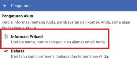 cara mwngganti nama facebook lite mudah