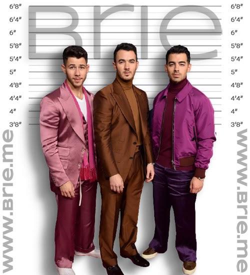 Nick Jonas, Kevin Jonas, and Joe Jonas height comparison