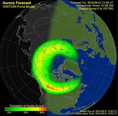 Come riporta Forbes, l'aurora boreale sarà visibile in diversi stati del nord nei 48 stati
