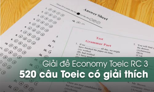 Giải đề Economy Toeic RC