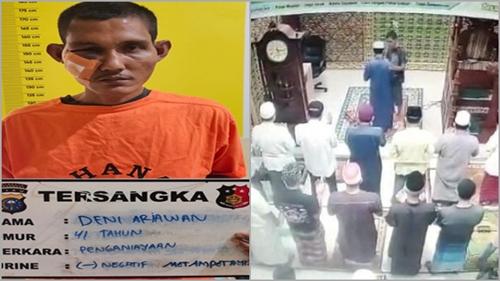 Motif Deni Tampar Imam Masjid di Pekanbaru karena Risih dengar Suara Mengaji