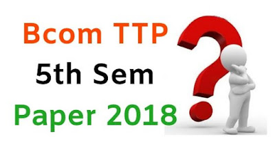 BCom (Tpp) 5th Sem Question Papers 2018 Mdu (Maharshi Dayanand University)