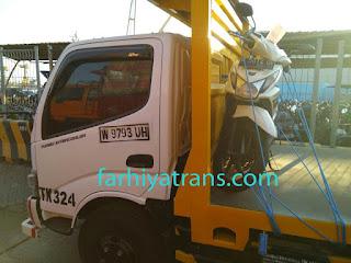 Jasa kirim truk sepeda motor Surabaya Banjarmasin dengan kapal laut roro