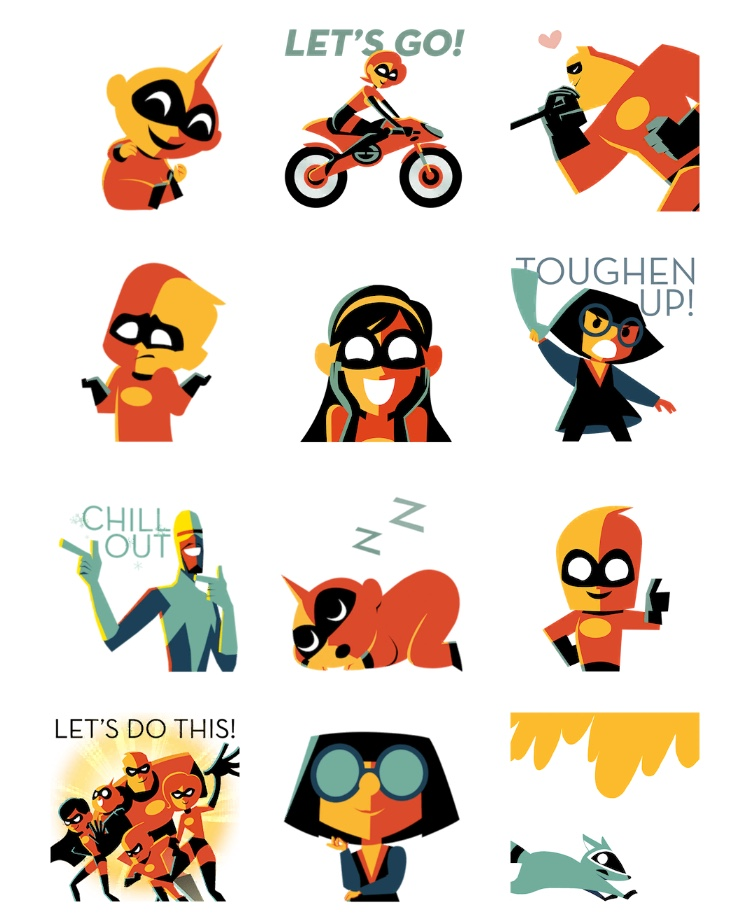 Disney·Pixar Incredibles 2 Apple iOS Sticker Pack