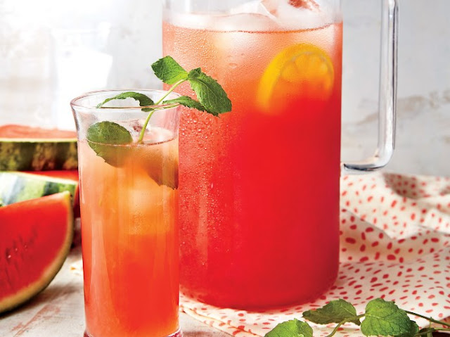 Sparkling Watermelon Lemonade #drink #summer